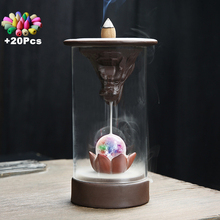 20 Incense Home Decoration Handmade Gifts Creative Colorful Led Feng Shui Ball Chinese Dragon Windproof Backflow Burner
