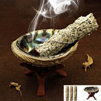 White Sage Pure Leaf Smoky Purification Sage Smoking Indoor Fragrance To Purify The Mind  Room Buddhist Temple Cedar Sticks 1