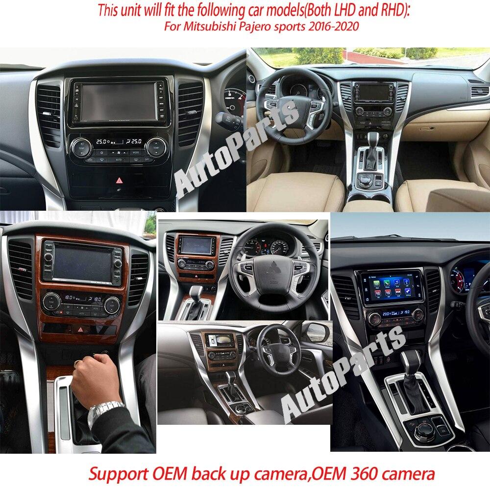 tesla Android car radio for Mitsubishi Pajero 2016-2020 navigation stereo multimedia 1 DIN