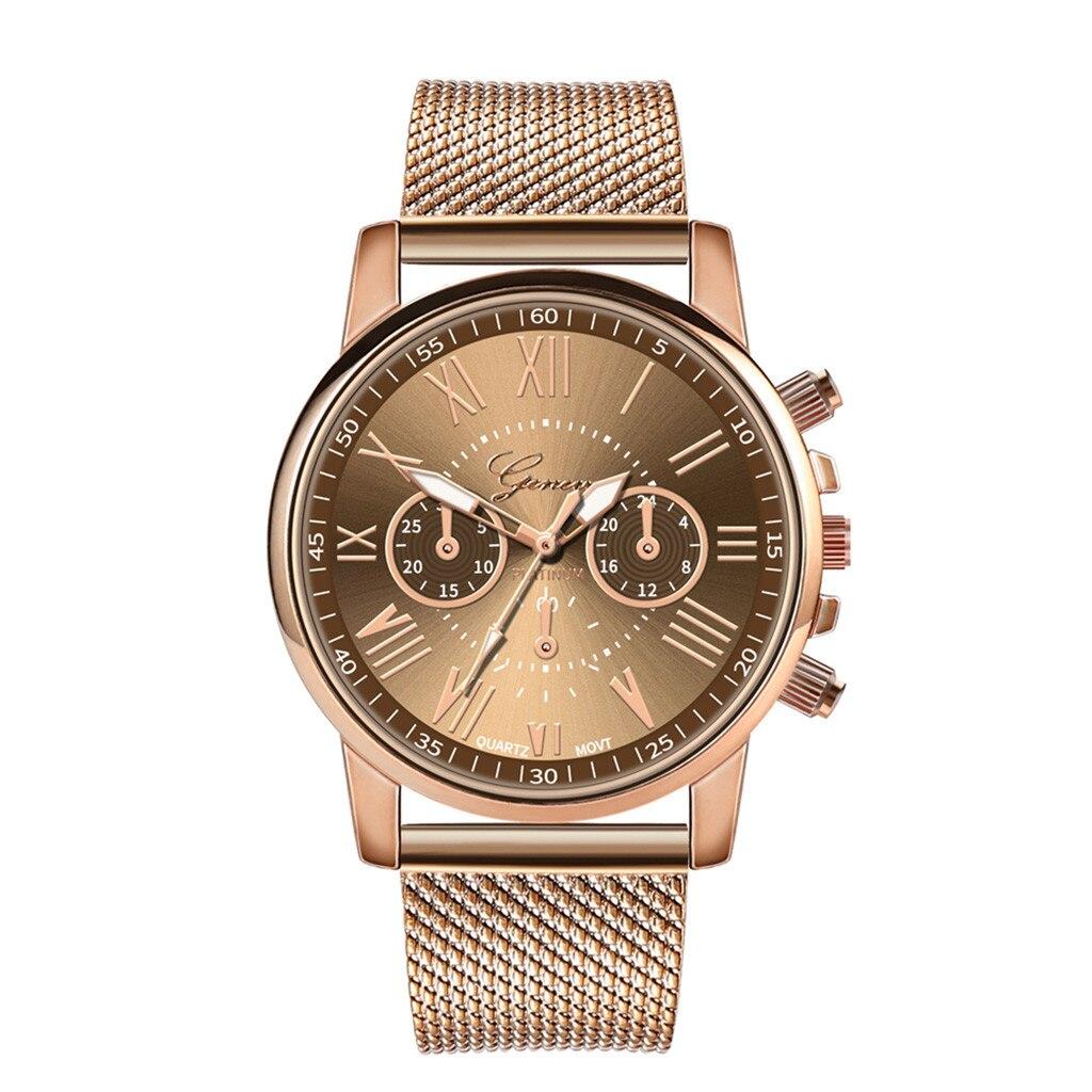 Роскошные Кварцевые часы для женщин и мужчин влюбленные пара Женские наручные часы Миланская нержавеющая сталь циферблат новое поступление - Цвет: D