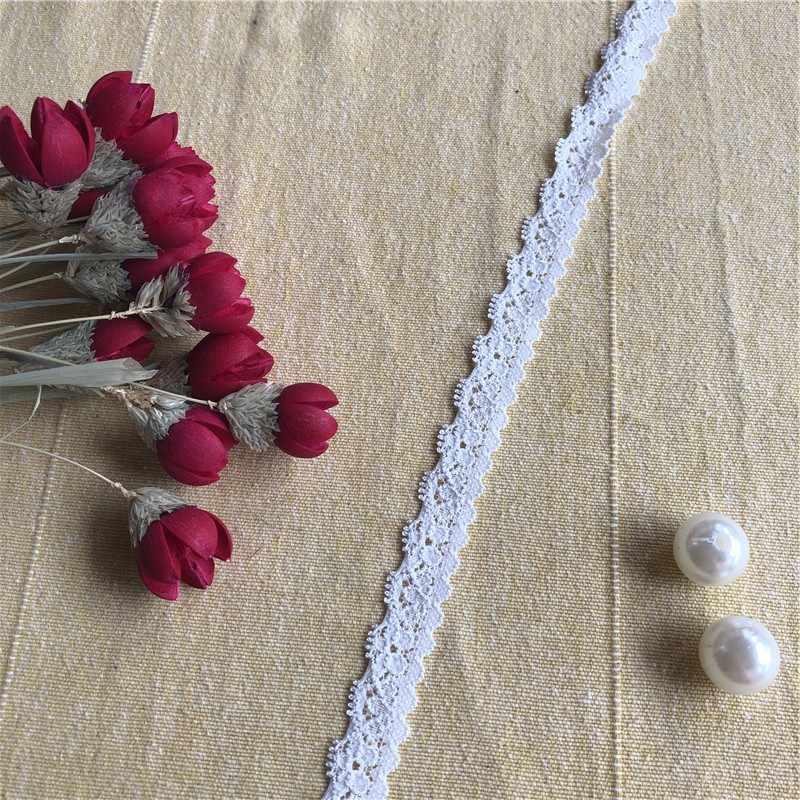 S 1116 1.5 centimetri Fatti A Mano FAI DA TE Accessori Del Merletto Del Ricamo Tessuti di Tende Divano Cucito Bianco Lace Trim