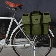 Tourbon Outdoor Vintage Bike Pannier Rear Rack Bag Shoulder Bags Motorcycle Carrier Storage Bags Waterproof for City Commuting
