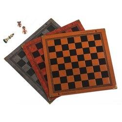 Placa de xadrez design exclusivo de padrão em relevo placa de xadrez de couro placa de xadrez universal geral portátil xadrez