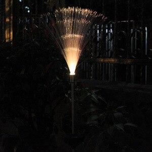 Image 2 - 2 adet LED güneş su geçirmez açık alan aydınlatması renkli değişim güneş çim ışığı bahçe ışıkları noel düğün parti dekorasyon için