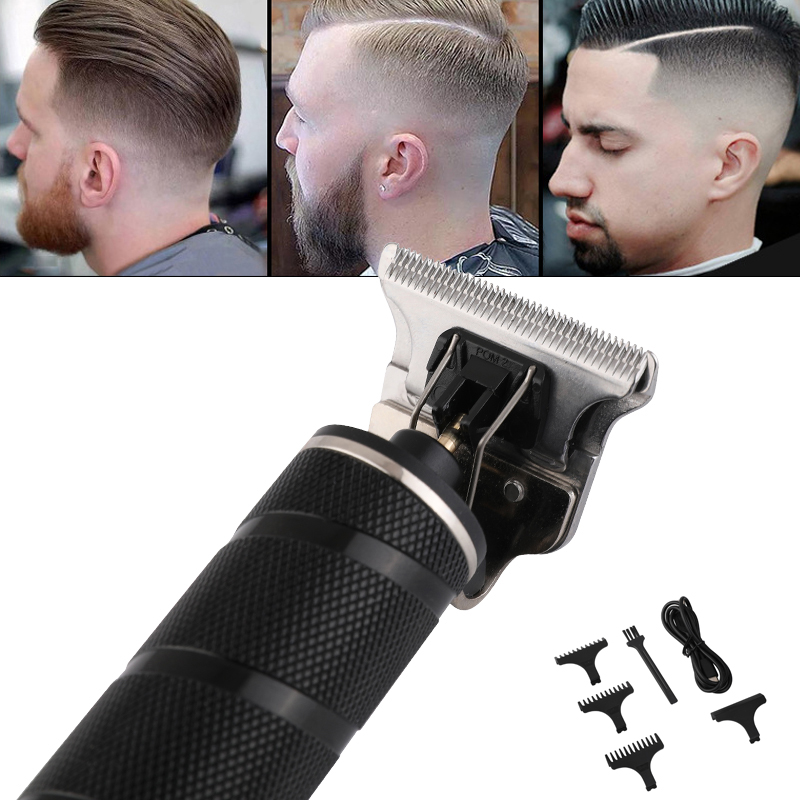 USB Rechargeable Professional Men Hair Clipper Trimmer Haircut Machine Barber Shaver Multi Functional Hair Trimmer Brush Kit