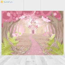 Buy Sunsfun Jungle Background Baby Shower Birthday Photography Backdrop Pink Forest Photobooth For Pictures 7x5ft directly from merchant!