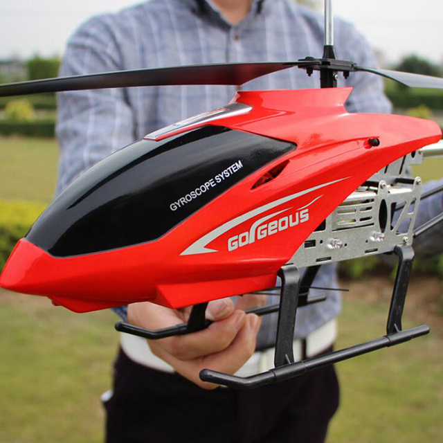 New 80CM Super Large RC Aircraft Helicopter Toys Recharge Fall Resistant Lighting Control UAV Plane Model Outdoor Toys For Boys 4