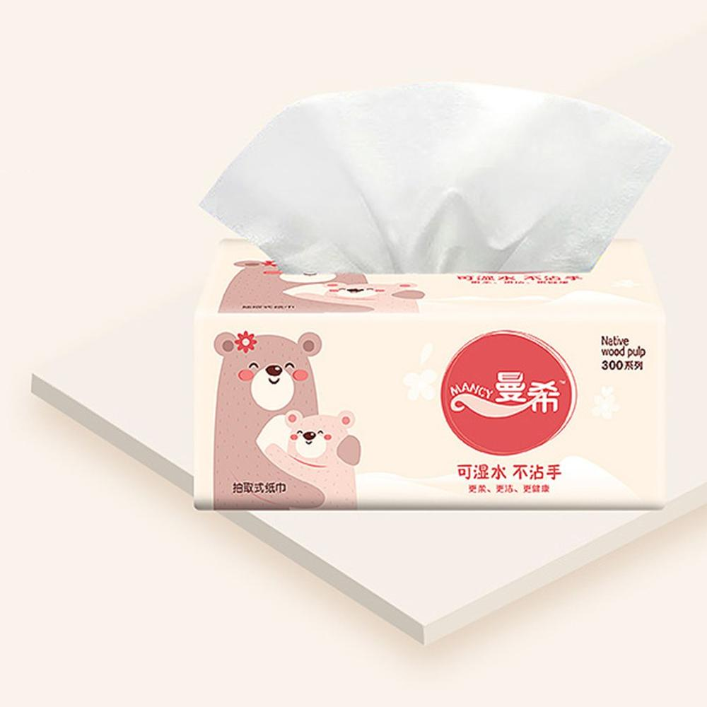 2020 New Napkin Paper Yellow Bear Advertising Custom Paper Single Paper Pumping Toilet Paper Virgin Pulp Paper 10 Pieces