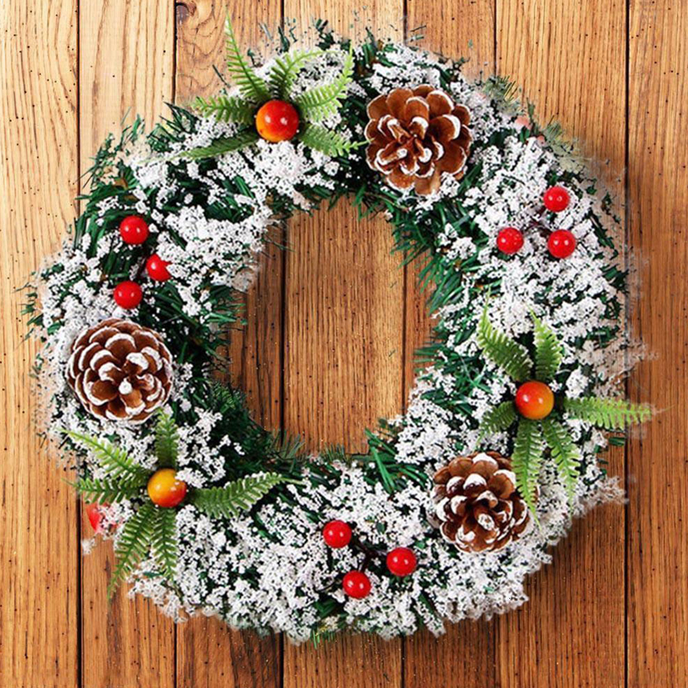 Wall Hanging Christmas Wreath For Xmas Party Door Home Garland Ornaments Decor