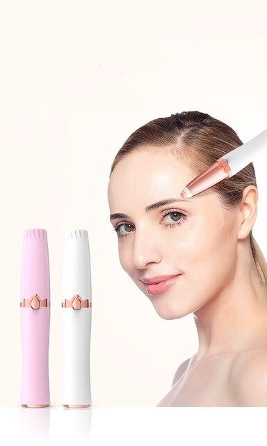 Protable Mini Electric Eyebrow Trimmer Lip Face Hair Razor Epilator Pen Hair Remover Eyebrow Shaver Women depilator NO Battery