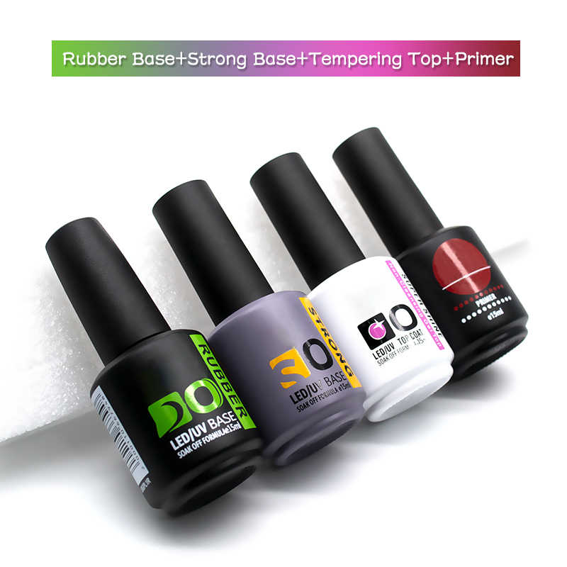 Nouveau Gel ensemble d'ongles vente Base en caoutchouc vernis semi-permanent hybride UV vernis à ongles Gel Base et couche de finition pour ongles Art Gellak peinture