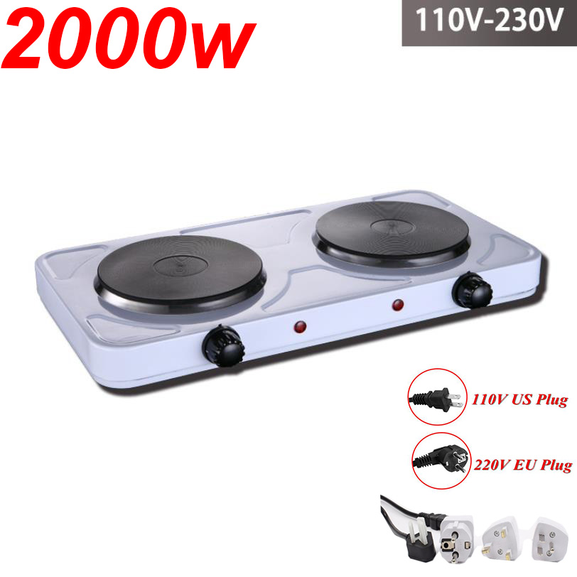 110V/220V Kitchen Lab Mini Electric Stove Electric Household Furnace Thermostat Hot Milk Cooker Travel Hot Plate Hot Cook Heater
