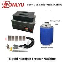 New F10 mini Liquid Nitrogen Freezer lcd Screen Separator/ lcd separating machine+tank(empty)+5pcs Mould for lcd repair