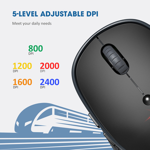 Image 3 - VicTsing PC254 Wireless Mouse 2400DPI Adjustable Portable Bluetooth Mouse 2.4Ghz USB Optical Cordless Mice For PC Tablet Laptop