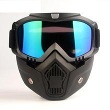 Respirator Protective-Eyewear Motorcycle-Helmet Cycling Wind Dust-Proof Detachable Face-Mask