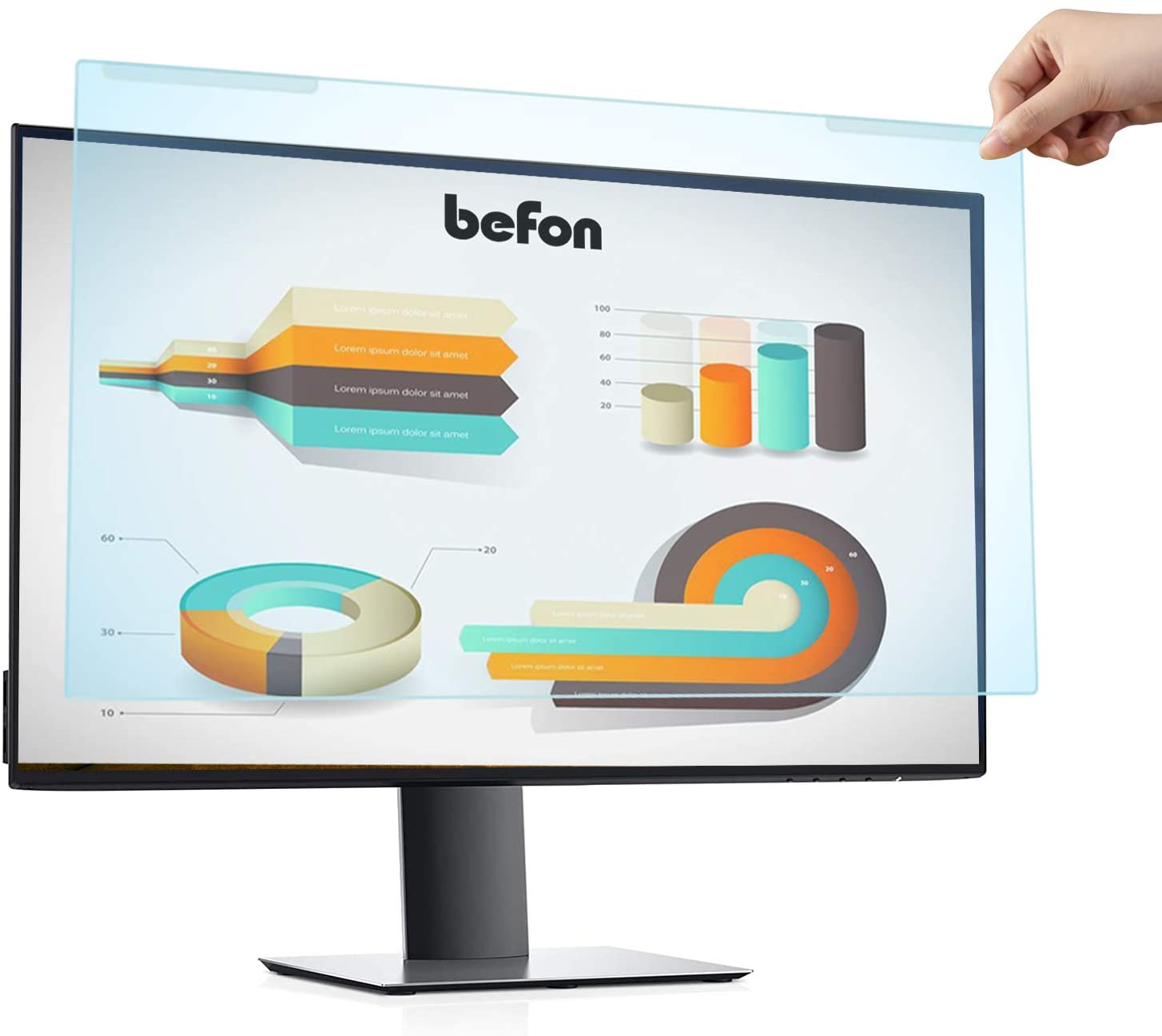 befon 24 inch Anti Blue Light Filter,Anti Glare Protector for 24 inch for PC computer,Protect your eyes from Blue Light Harm.