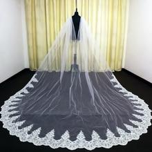 Real Photos Wedding Cape Veil White/Ivory Bridal Shoulder Veil Tulle Long Cape Cloak Shawl Trim Wedding Accessories