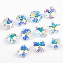 High quality 14mm charms crystal beads AB glass pendant gems for Jewelry making Necklaces Bracelet Earrings DIY 28pcs/pack
