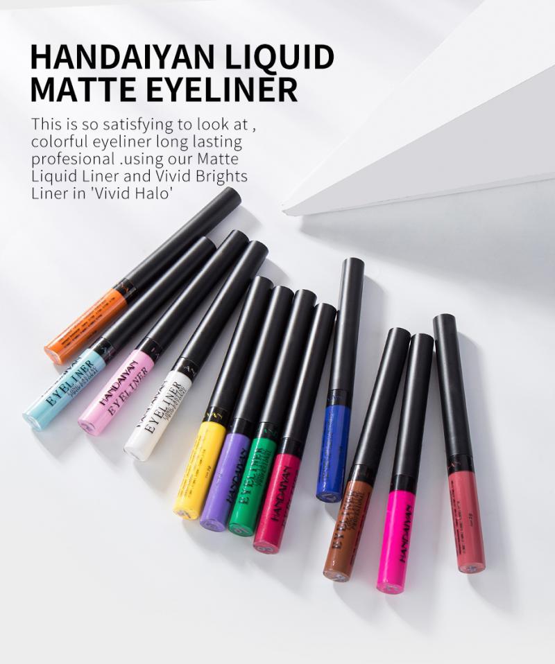 Matte Liquid Eyeliner Pencil Waterproof Lasting Quick Dry 12 Colors Pigment Eye Cosmetics TSLM1