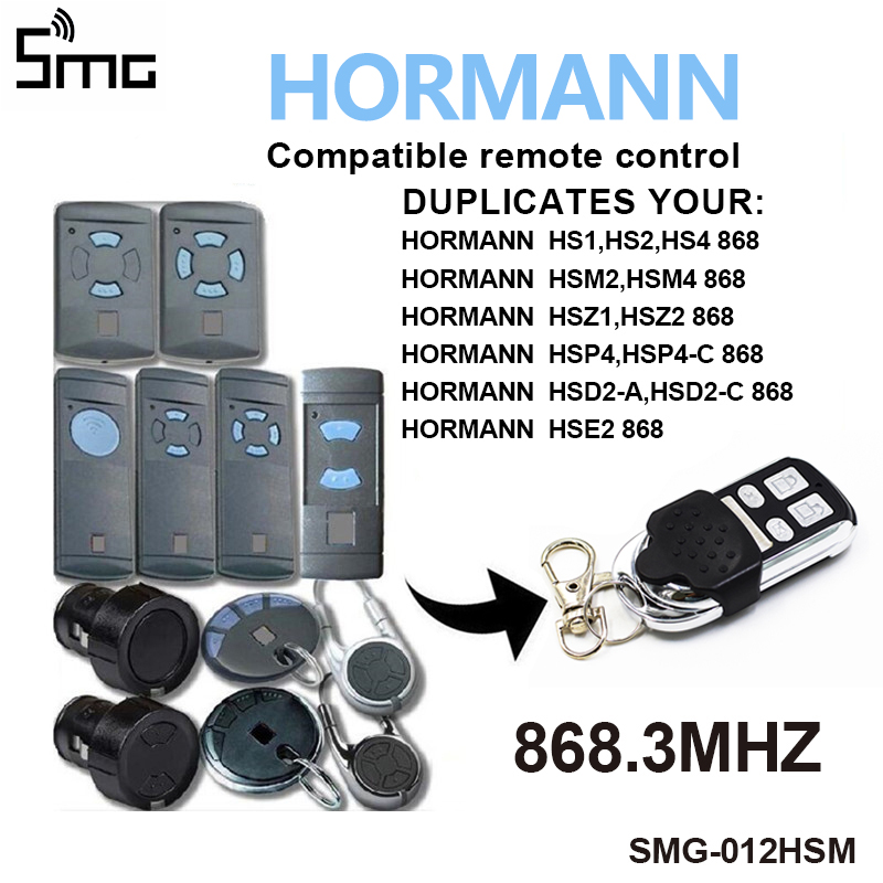 HORMANN HS1 HS2 HS4 868 MHZ Cloning <font><b>Remote</b></font> Control HORMAN HSM4 HSM2 Wireless 4 <font><b>Keys</b></font> Duplicator Gate control for <font><b>Garage</b></font> Gate Door image