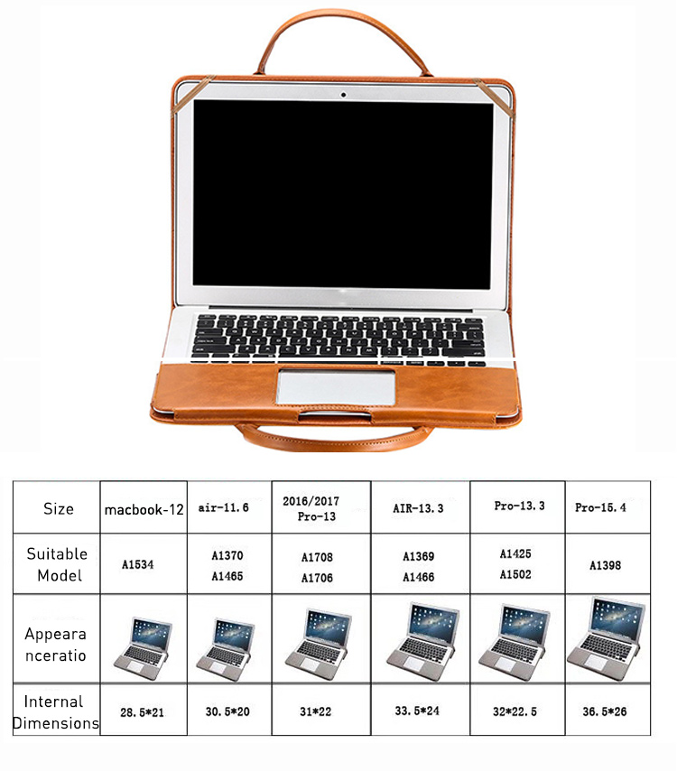 Multi use Leather Stand Case for MacBook