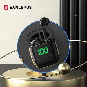 Image 1 - SANLEPUS Led Display TWS Bluetooth Earphones Wireless Headphones Gaming Headset Earbuds For Android iOS Xiaomi Huawei vivo redmi