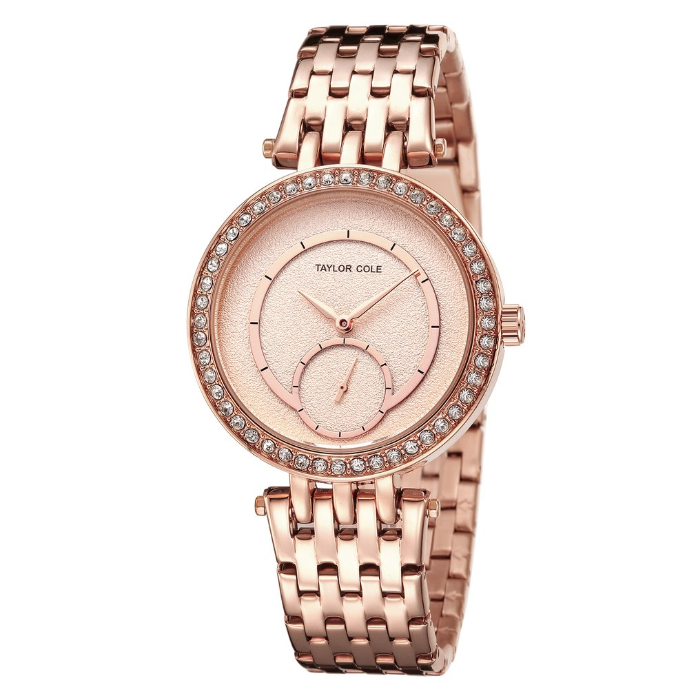 Luxury Brand Taylor Cole Women Watches Date Gold Clock Stainless Steel Strap Dames Horloges Women Quartz Dress Watches / TC134