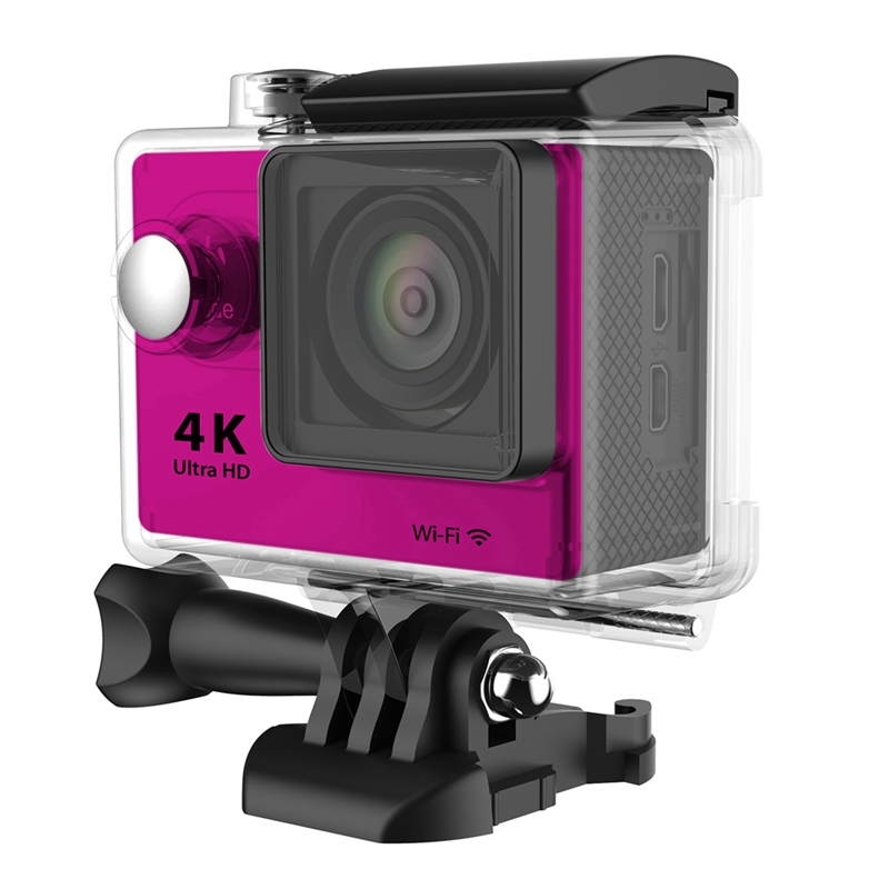 H9R Wifi Camera 1080P Ultra 4K Sport Action Waterproof Travel Camcorder Pink