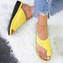 Women Sandals Platform Casual Orthopedic Soft Pp Shoes Comfy Corrector Sole Bunion Big-Toe