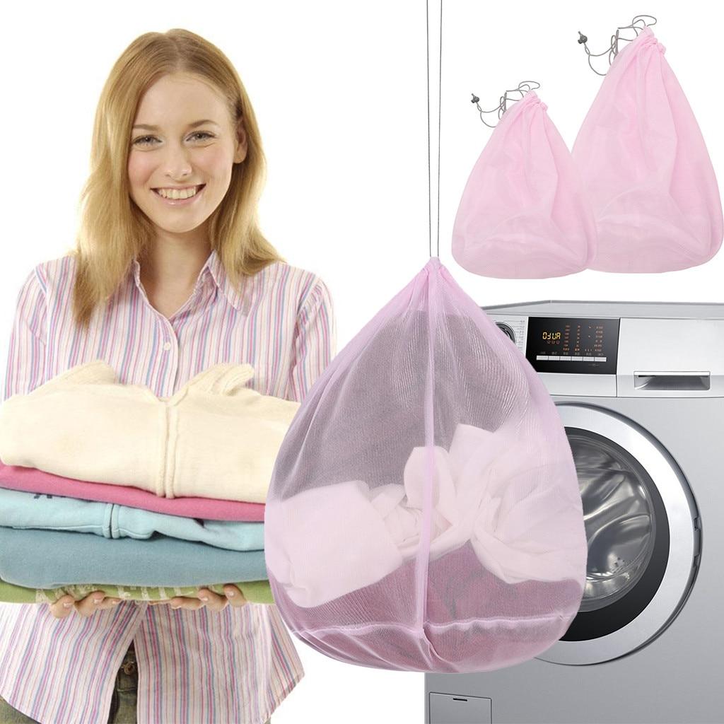 2 Size Washing Laundry Bag Clothing Care Foldable Protection Net Filter Underwear Bra Socks Underwear Washing Machine Clothes#p7