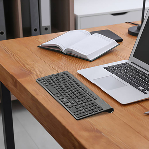 Image 5 - JOYACCESS Spanish/Italian/German/French/Russian Keyboard Wireless with Multimedia Keys Ergonomic keyboard for Notebook Laptop PC