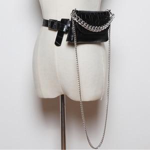 Image 3 - ファッション女性のウエストバッグ革ベルトバッグファニーパック高品質チェーンウエストパックヒップパック多機能クロスボディハンドバッグ