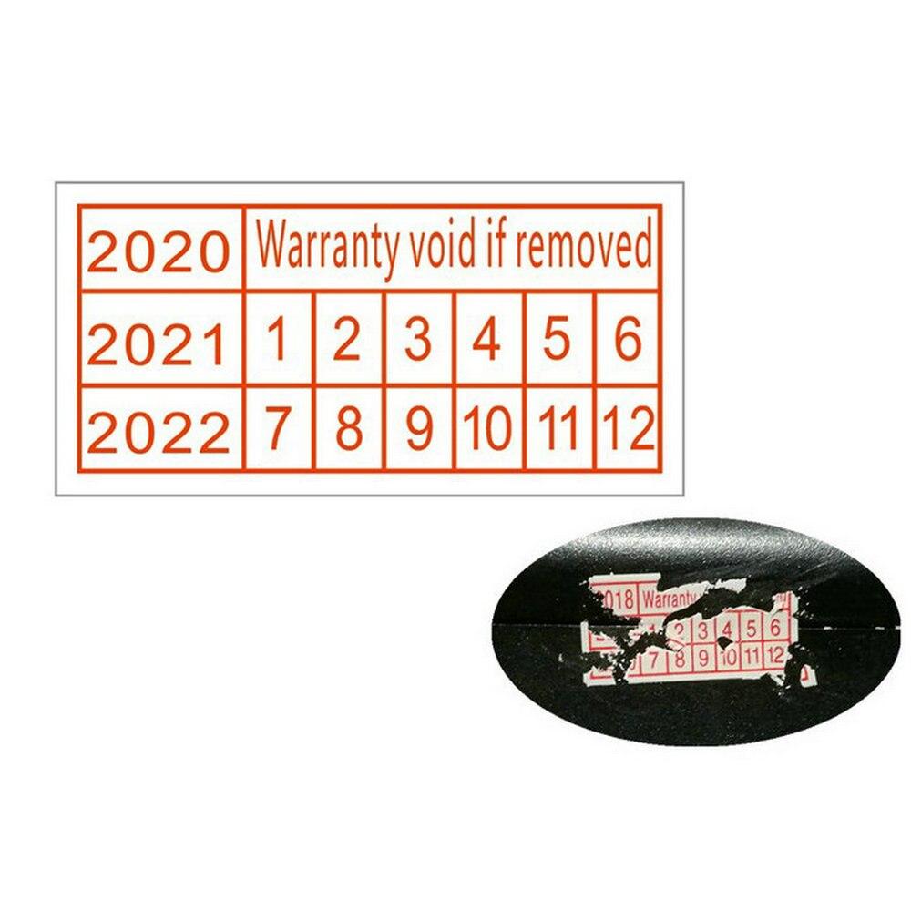 1100 шт. гарантия аннулируется, если удалить хрупкие Стикеры охранная пломба 2021 2022 2023 год в Размеры 20*10 мм красного цвета прямоугольник Форма