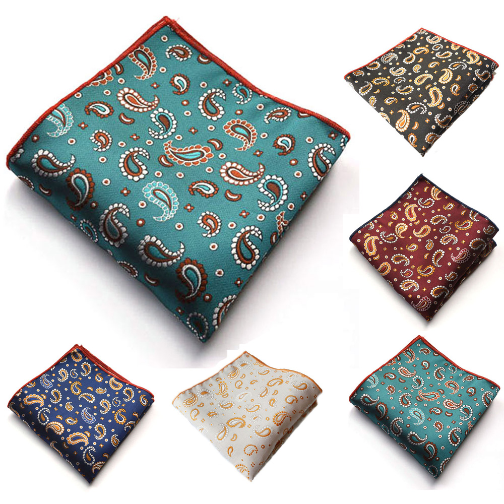 Men Business Pocket Square High Grade Handkerchief Paisley Pattern Wedding Hanky YXTIE0330