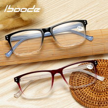 Reading-Glasses Diopter Transparent Iboode Eyewear Frame Women Square Gradient-Color