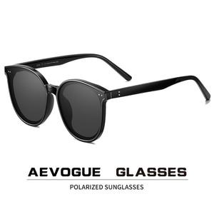 Image 1 - AEVOGUE New Polarized Sunglasses Women Popupar Transparent Round Retro Fashion Sun Glasses Vintage Oculos Unisex UV400 AE0845