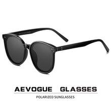 AEVOGUE yeni polarize güneş gözlüğü kadın popüler şeffaf yuvarlak Retro moda güneş gözlüğü Vintage Oculos Unisex UV400 AE0845