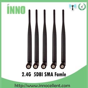 Image 1 - 2.4 GHz هوائي wifi 5dBi RP SMA الإناث 2.4 ghz انتينا واي فاي 2.4G antenne الجوي هوائيات antenas ل اللاسلكية واي فاي راوتر