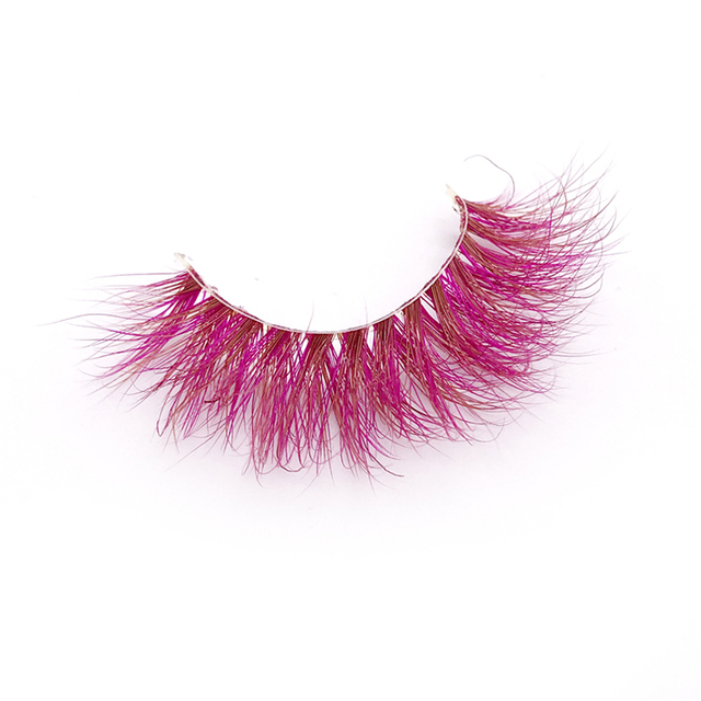 New 9D red mink color lashes wholesale natural long fluffy individual dramatic colorful false eyelashes Makeup Extension Tools 5