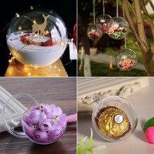 HOT-1Pc, свадебное, рождественское подвесное украшение, шар, прозрачное, открытое, пластиковое прозрачное украшение, для детей, сделай сам, вечерние принадлежности, 5 см