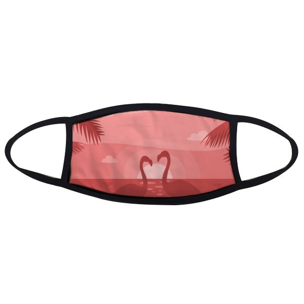 Flamingo Couple Red Dusk Mouth Face Anti-dust Mask Anti Cold Warm Washable Cotton Gift