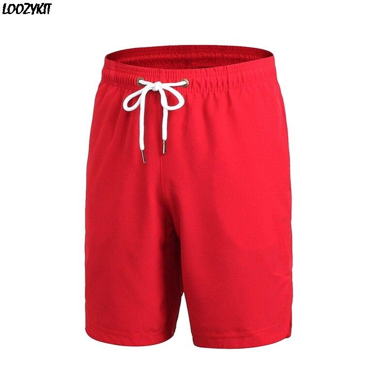 Dihope Summer Men Sports Shorts Fitness Running Training Basketball Shorts Loose Casual Quick Dry Beach Shorts Solid Drawstring