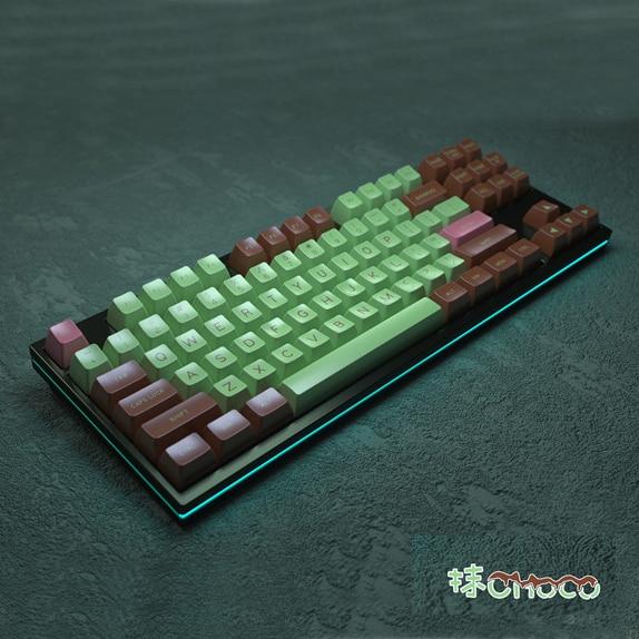 136 Keys Full Set MAXKEY Matcha SA Profile Keycap Mechanical Keyboard ABS Double-Shot Key Cap For MX Switches