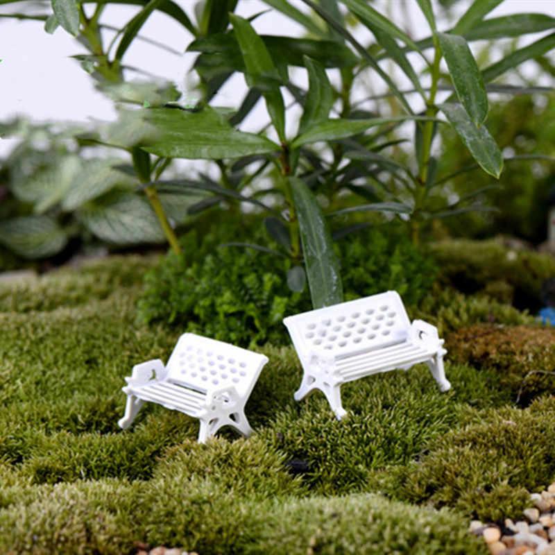 Acessórios de decoração para casa 3 pçs alta qualidade mini jardim ornamento parque em miniatura assento banco artesanato fada dollhouse venda quente