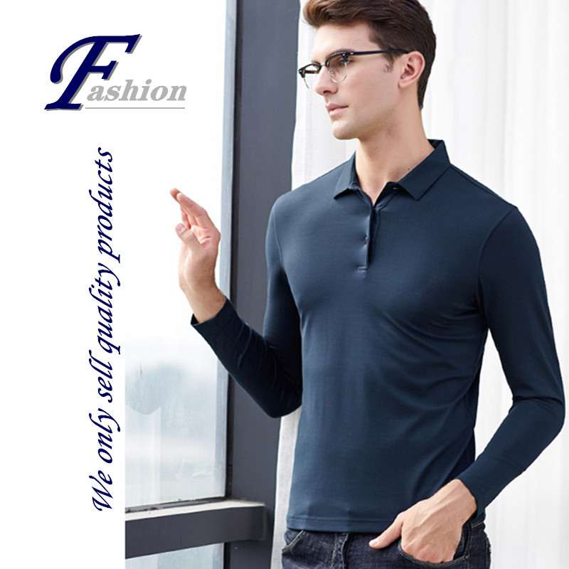 High-end soft new men's mulberry silk turtleneck pullover casual comfortable breathe colorfast keep warm All-match base shirt