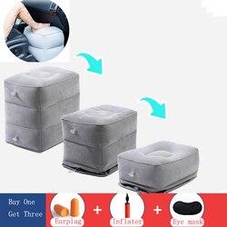 Portabl viagem inflável descanso do pé pés almofada ajustável altura apoio para os pés relaxar para avião escritório casa acessórios