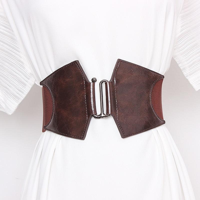 Corset Belt Woman Waist Plus Size Belts For Women Wide Cummerbunds Designer Elastic Big Ceinture Femme High Quality Dress Belt