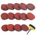 140 шт. 2 дюйма шлифовальные диски беспыльный набор для сверла шлифовальный станок вращательного бурения инструменты с 1/4 дюймов подложка пла...