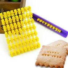 Novo número da letra do alfabeto bolo molde biscoito imprensa selo diy