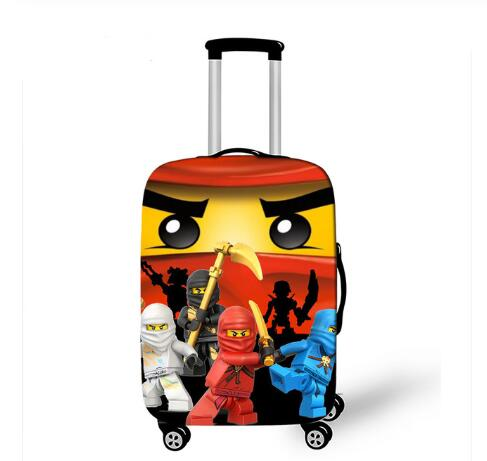 18''-32'' Iron Man Ninja Suitcase Cover Travel Luggage Suitcase Protector For Boys Trolley Durable Protective Cover
